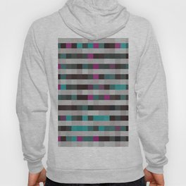 pixels pattern with colorful squares and stripes Hoody