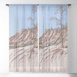 Trees & Rocks - Zion National Park Sheer Curtain