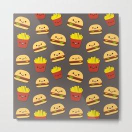 Fastfood pattern Metal Print
