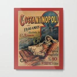 Constantinople Italian vintage book advertisement Metal Print