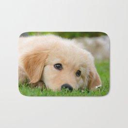 Golden Retriever puppy, cute dog Badematte