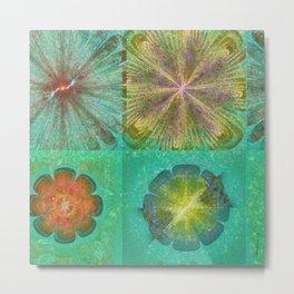 Hallowed Layout Flowers  ID:16165-043715-02000 Metal Print