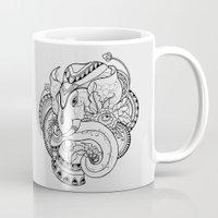 thailand Mugs featuring Thailand Elephant by nuryanti