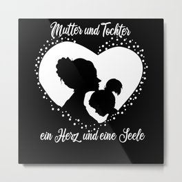 Mother Daughter Outfit Mom Family Baby Metal Print