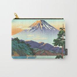 Tsuchiya Koitsu - Lake Ashi in the Hakone Hills in early Autumn - Japanese Vintage Woodblock Carry-All Pouch
