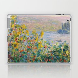 1881-Claude Monet-Flower Beds at Vétheuil-73 x 92 Laptop & iPad Skin