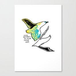 Serene seagulls Canvas Print