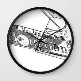 Sign of Bourbon Street  Wall Clock