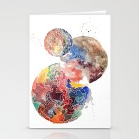 planets Stationery Cards featuring Planets by emluluna