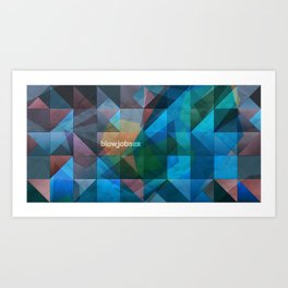 triangular shapes of power Art Print