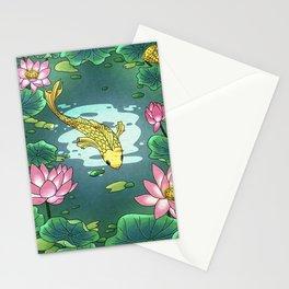 Minhwa: Moonlight Pond  F Type (Korean traditional/folk art) Stationery Cards