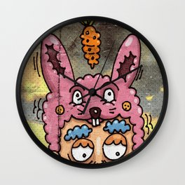 Happy Rabbit Wall Clock