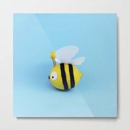 Bee - Lemon Metal Print