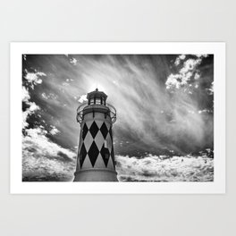 Lighthouse Sky Art Print