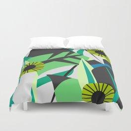Fresh tropical decor Duvet Cover