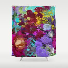 Abstract Flowers 1940 Shower Curtain