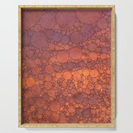 Percolated Sunset in Warm Tones Serving Tray
