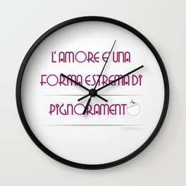 """Pignoramento"" Wall Clock"