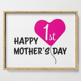 Happy First Mother's day Pink Balloon Serving Tray