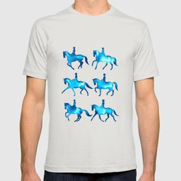 Turquoise Dressage Horse Silhouettes T-shirt