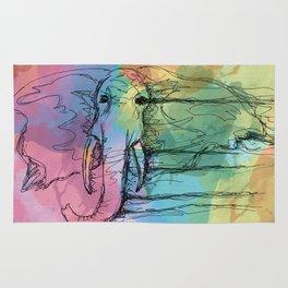Watercolor for Elephants. Rug