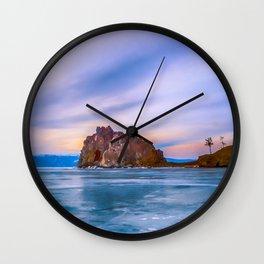 Shaman Rock, lake Baikal Wall Clock