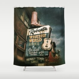 Honky Tonk Grill Shower Curtain