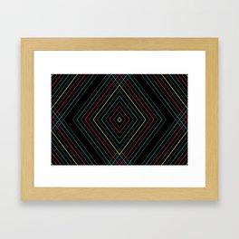 Neon Diamond Pattern Framed Art Print