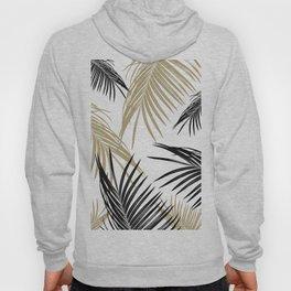 Gold Black Palm Leaves Dream #1 #tropical #decor #art #society6 Hoody