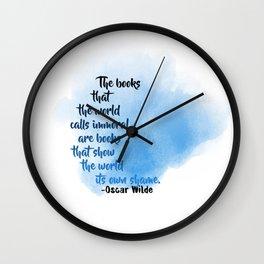 Immoral Books | Oscar Wilde Wall Clock