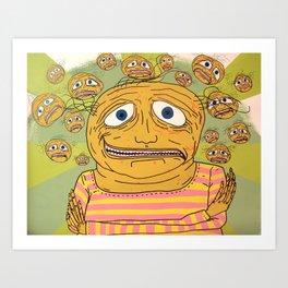 Boyfriend Bubble Art Print