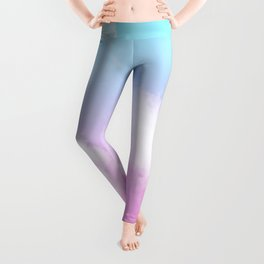 Pink Summer Clouds Leggings