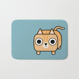 Cat Loaf - Orange Tabby Kitty Bath Mat