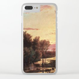 Un tramonto dopo la pioggia: A sunset after rain 1864 Clear iPhone Case