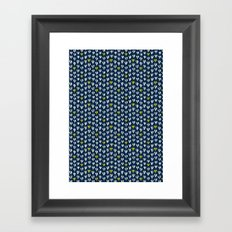 Pattern in blue and yellow Framed Art Print