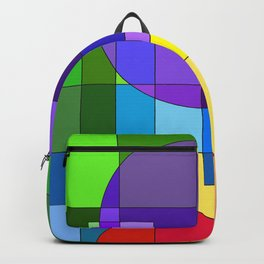 Bright Lights! - Abstract Shapes - Rainbow Backpack
