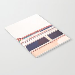 Retro Van Camper, Palm tree and Surfboards Notebook