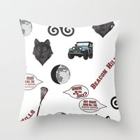 teen wolf Throw Pillows featuring Teen wolf  by CourtneyColumbus