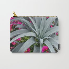 GRACEFUL ARCHING GREY-FUCHSIA FLORAL GARDEN PLANT Carry-All Pouch