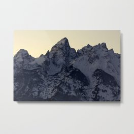 Quiet Tetons Metal Print
