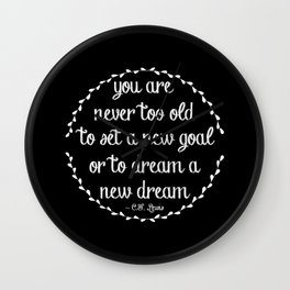 Dream a new dream; set a new goal Wall Clock