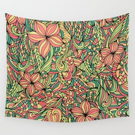 Floral delicate pattern Wall Tapestry