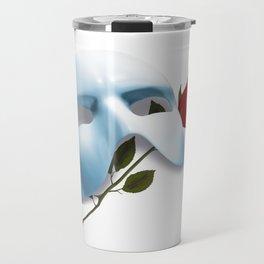 Mask and Rose Travel Mug