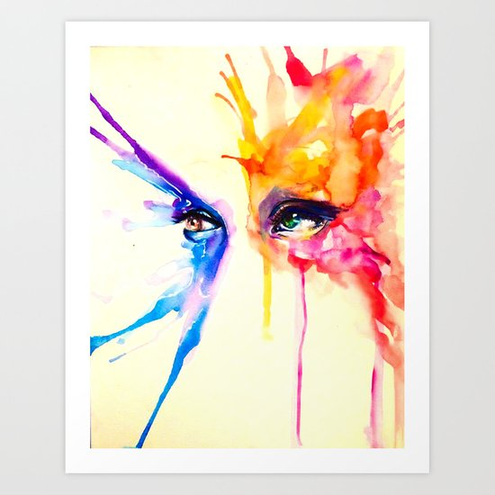 stare into the sun Art Print