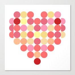 Circles of Love Canvas Print