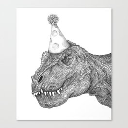 Party Dinosaur Canvas Print