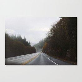 Overcast Fall Road Canvas Print