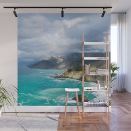 Parting Clouds in Big Sur Wall Mural
