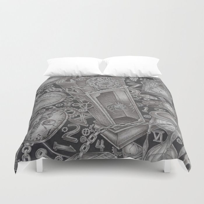 waste of time Duvet Cover