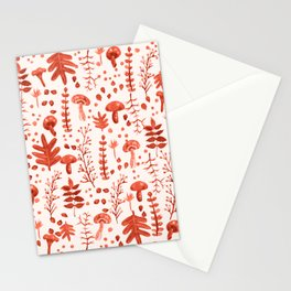 Autumn Reds Stationery Cards